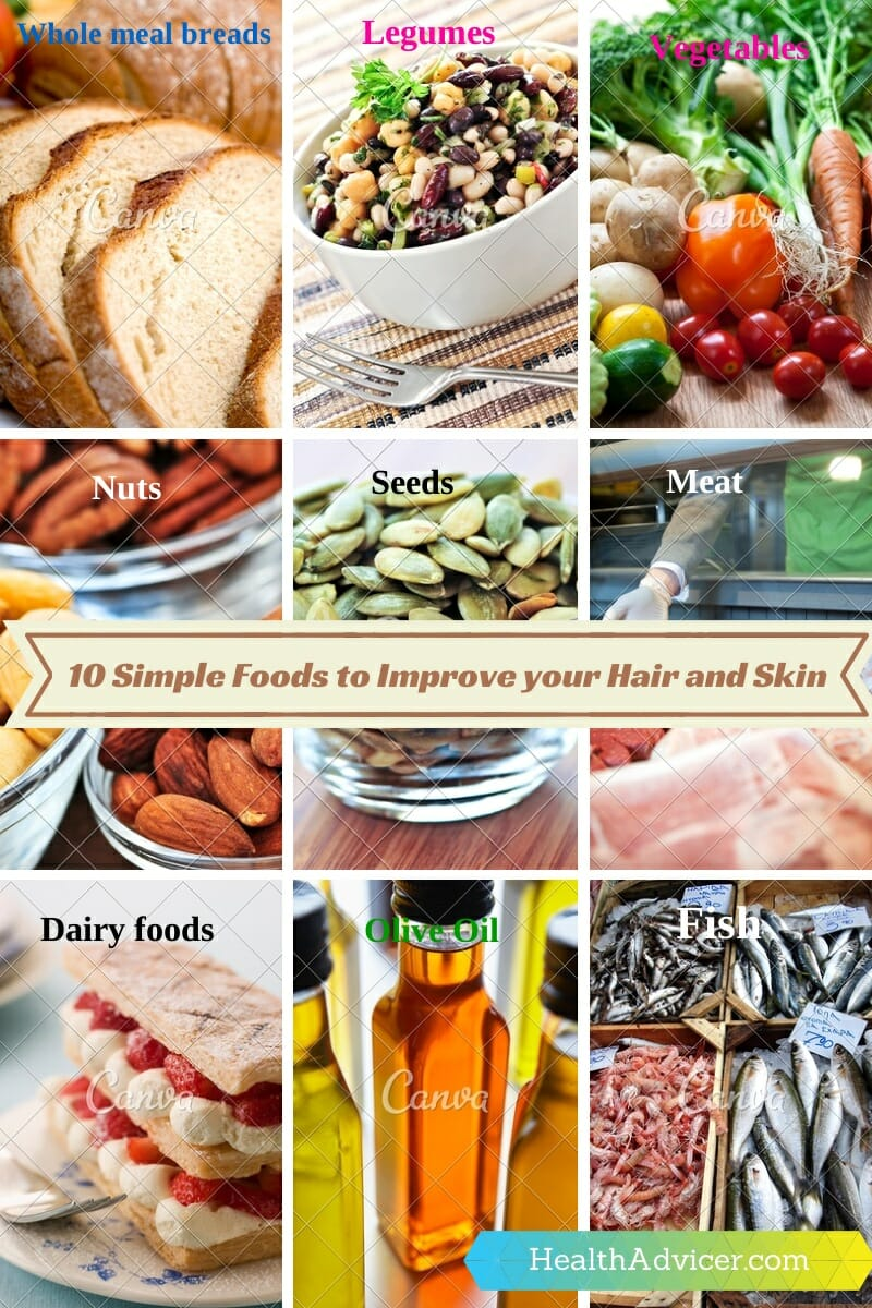 Foods to Improve your Hair and Skin