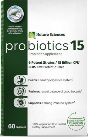 Naturo Science Probiotics 15 Billion CFU