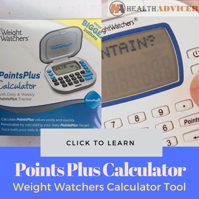 Points Plus Calculator Weight Watchers